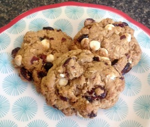 GF Oatmeal White Chocolate Cookies