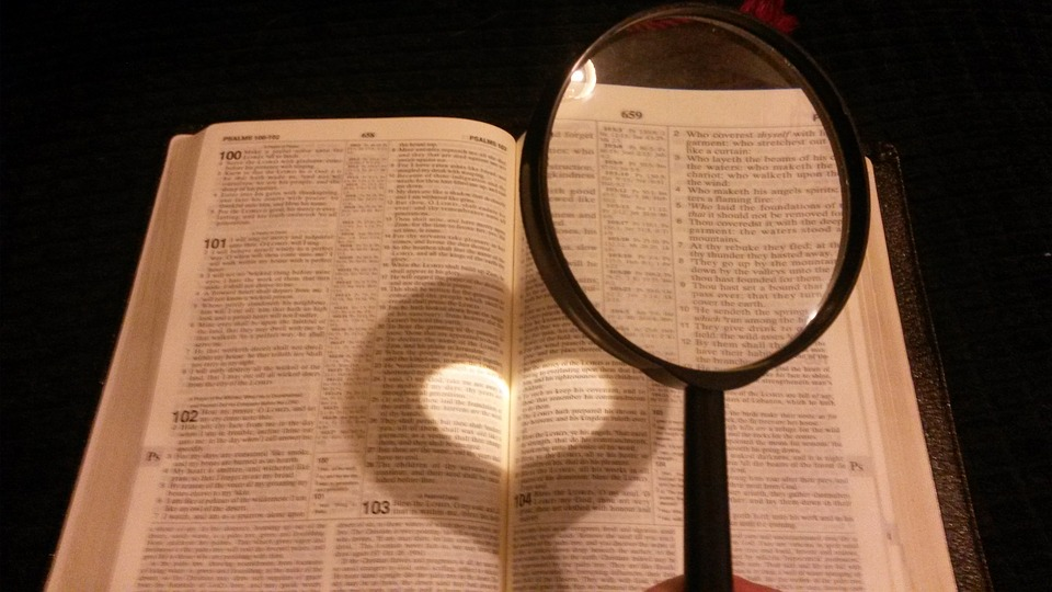 Bible with heart