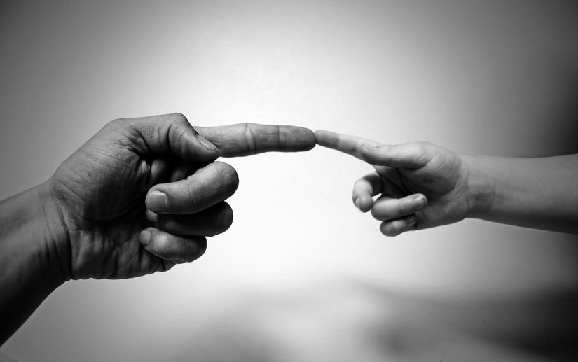 God's hand-baby