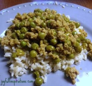 Nana's turkey, peas, and rice1